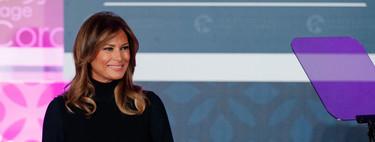 Melania Trump lleva el vestido negro de punto más estiloso para lucir 24 horas al día