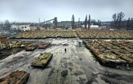 Cementerio de tanques de Ucrania