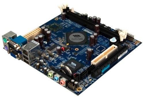 VIA VB8001, placa mini-ITX con procesador integrado