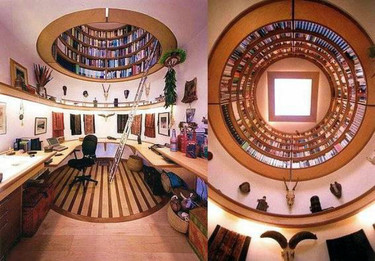 Una biblioteca en una cúpula