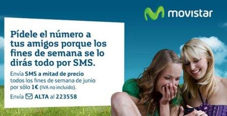 SMS a mitad de precio con Movistar los fines de semana de junio