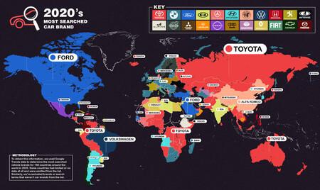 Nissan fue la marca más buscada en México en 2020 y Toyota le quita el título a BMW a nivel global