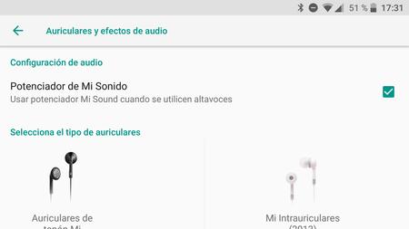 Los ajustes de audio para auriculares de MIUI, ahora en el Mi A1