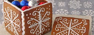 Cómo realizar cajas con masa de galletas. Receta de Navidad