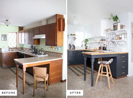 Antes y despu s de una cocina pintar es la clave for Pintar techo cocina
