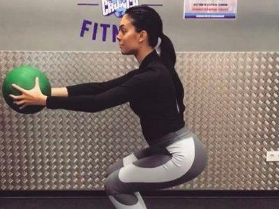 Georgina levanta críticas por ejercitar en el gimnasio ocho días después de dar a luz