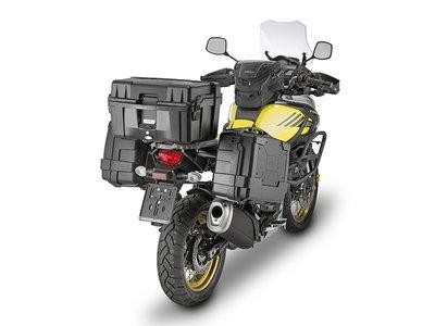 Hasta 144 litros de carga extra para viajeros incansables con las Kappa Garda Black
