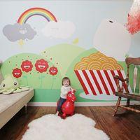 La naturaleza es nuestro tema favorito para dormitorios infantiles, el desorden su mayor problema