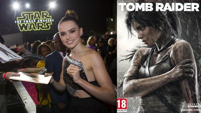 Daisy Ridley y Lara Croft