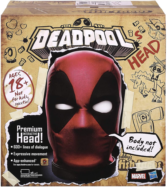Marvel Legends Cabeza premium e interactiva de Deadpool - Gestos, voz y optimización por app - 600+ efectos y frases