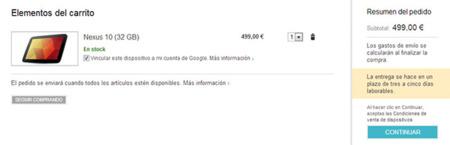 Nexus 10 Checkout