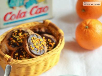 Galletas rústicas de chocolate y naranja. Receta