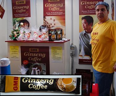 Ginseng Coffee, café con ginseng