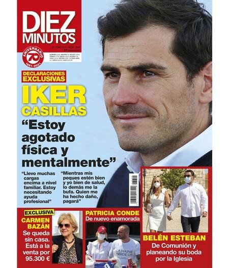 Patricia Conde y su novio en la portada de 'Diez Minutos'