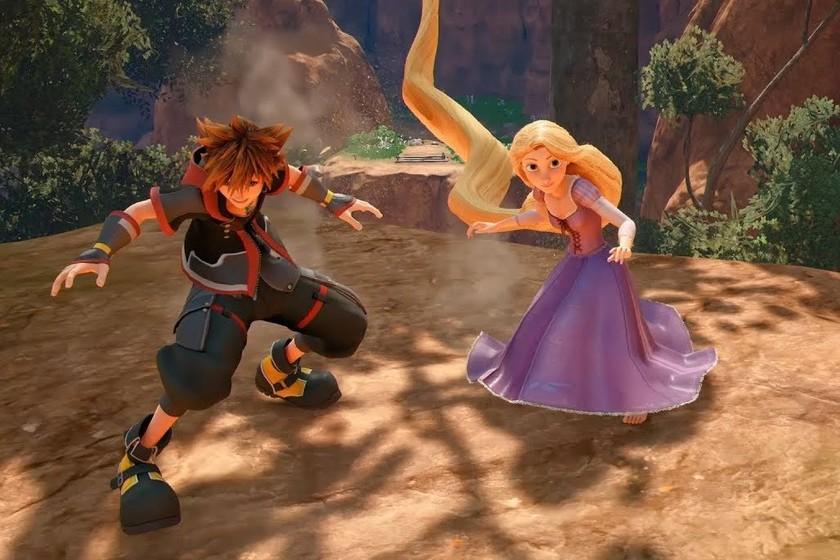 Sora y Rapunzel se lo pasan piruleta en el nuevo gameplay de Kingdom Hearts III