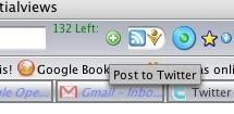 Twitterbar, manda mensajes a Twitter desde la barra de direcciones de Firefox