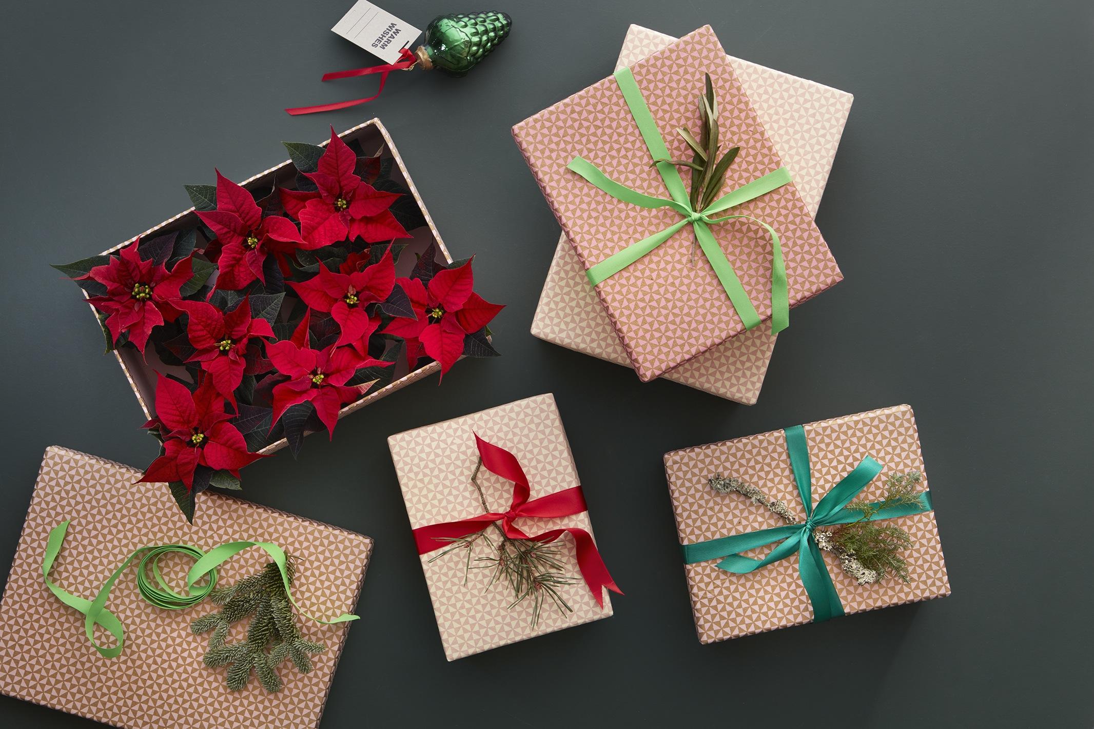 ideas decorativas originales y navideas con poinsettias