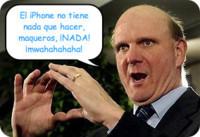 Ballmer vuelve a criticar el iPhone