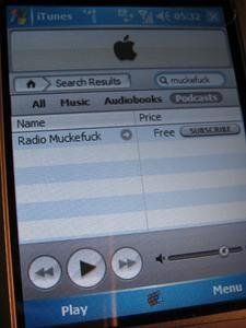 iTunes para Windows Mobile 5.0