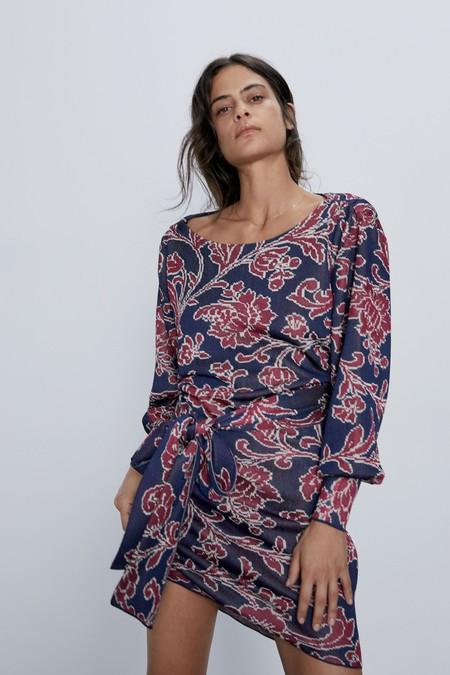 Vestido Jacquard Zara 01