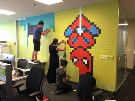 Office Wall Post It Art Superheroes Ben Brucker 17