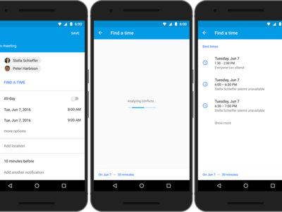 Google Calendar para Android encontrará el mejor momento para hacer una reunión