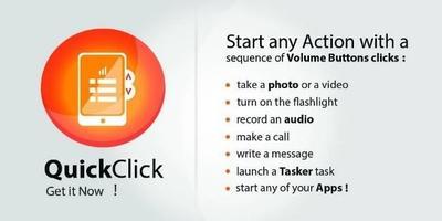 QuickClick, utiliza las teclas de volumen para realizar acciones automáticas