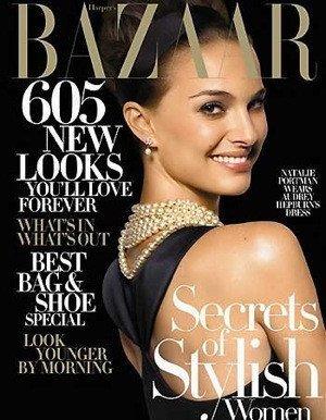 Natalie Portman es Audrey Hepburn en Harper's Bazaar