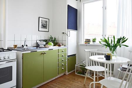 Un apartamento sueco de 33 metros cuadrados for Cocina para departamento pequeno