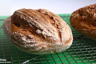 Receta de pan blanco con masa madre