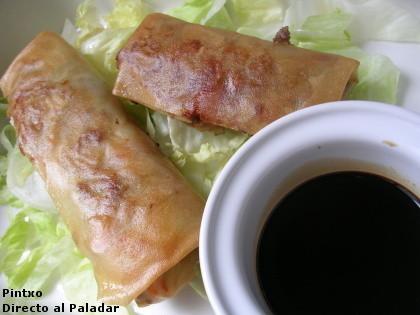 Receta de rollitos chinos de verdura y carne