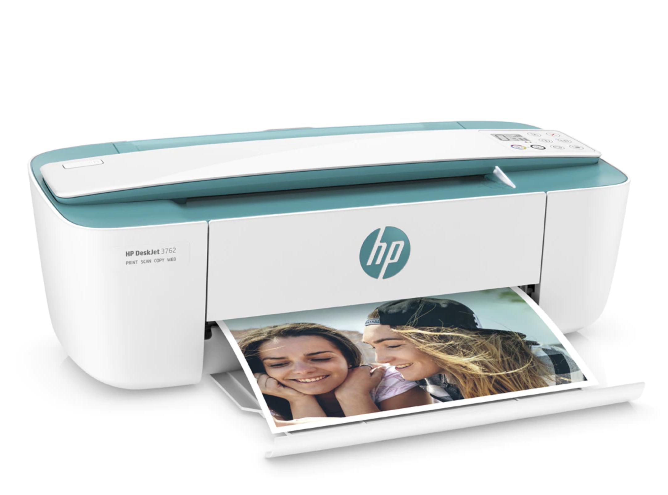 Impresora Multifunción tinta HP DeskJet 3762, Wi-Fi, copia, escanea, compatible con Instant Ink