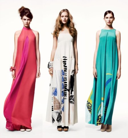 H&M catálogo: vestidos largo