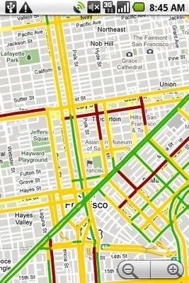 Google Maps Mobile recoge y muestra datos reales de tráfico
