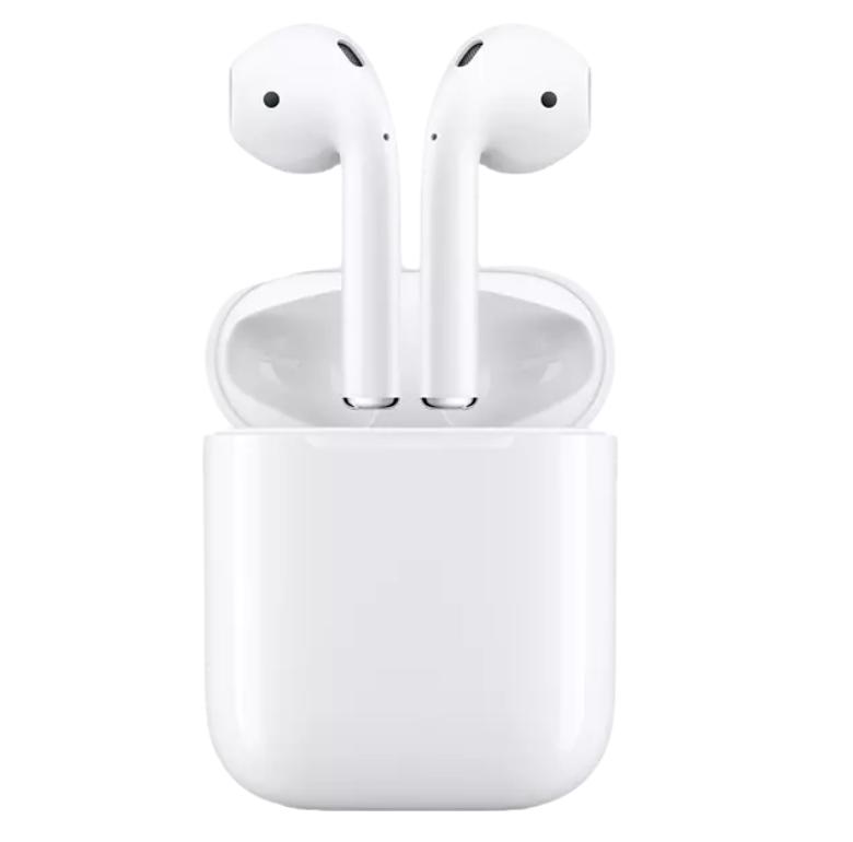 Auriculares inalámbricos - Apple AirPods 2, Bluetooth, Lightning, Chip H1, Siri, Blanco