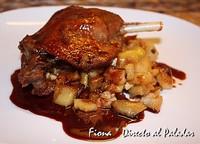 Confit de pato con pittypanna de manzana y foie. Receta de Navidad