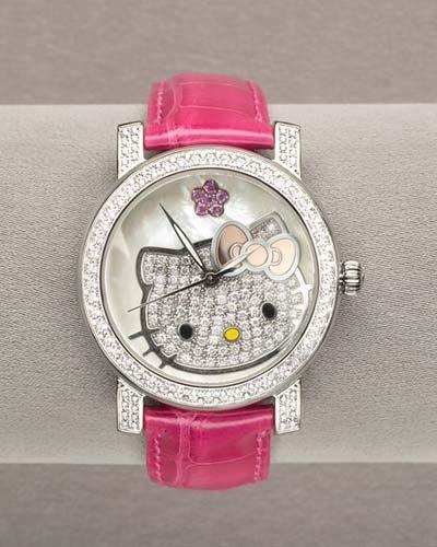 Reloj con diamantes de Hello Kitty