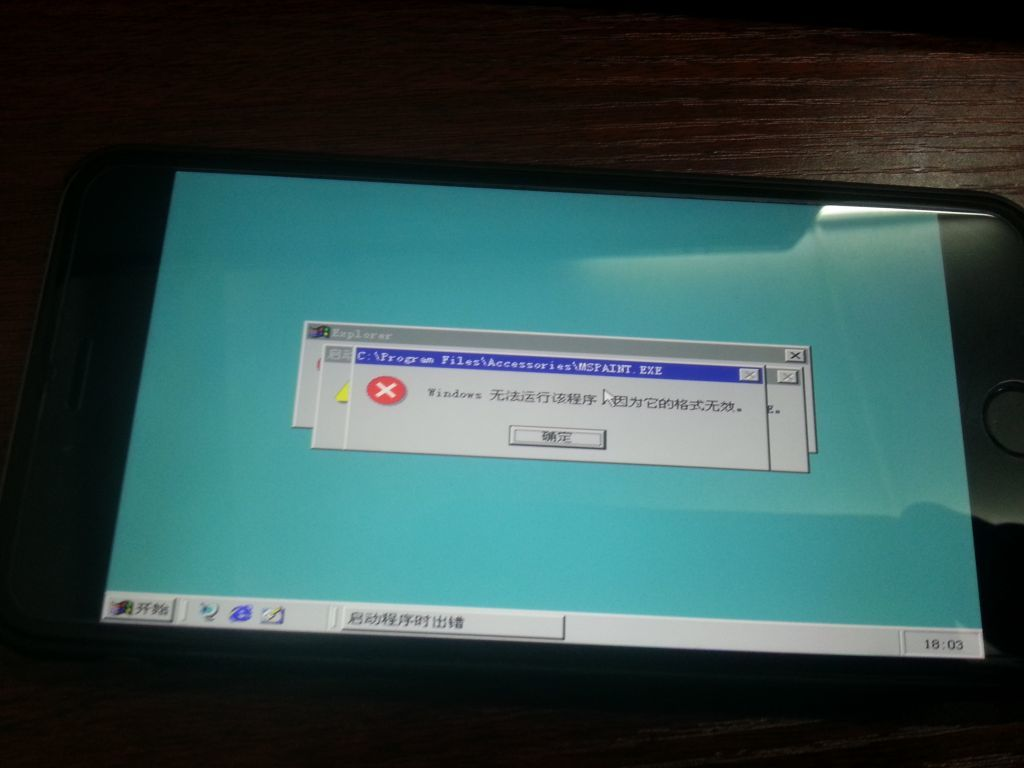 Windows 98 en un iPhone 6 Plus