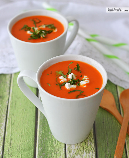 Sopa fría de pimientos. Receta