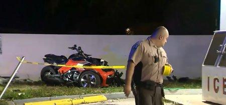 Una niña de 3 años y su padre, hospitalizados al provocar un angustioso accidente con un Can-Am Spyder