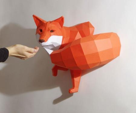 Papercraft Animals Series Paperwolf