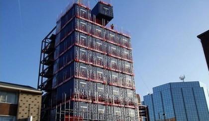 Travelodge construye un hotel con contenedores