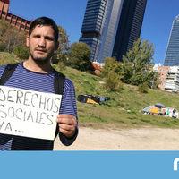 """Quién es Lagarder Danciu, el """"activista sin techo"""" agredido ayer por un grupo de neofranquistas"""