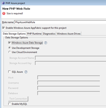 Plugin Eclipse de PHP para Windows Azure Platform
