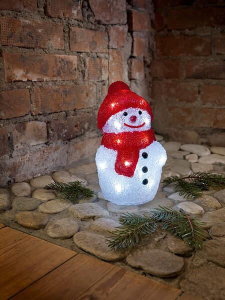 Muñeco de nieve con led