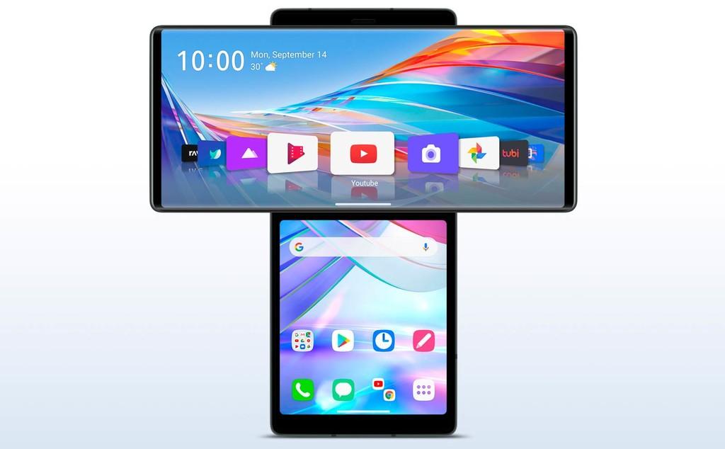 LG Wing, un móvil radicalmente distinto con doble pantalla en cruz y cámara frontal motorizada