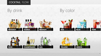 Cocktail Flow: el recetario de cocktails para Windows 8