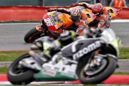 Cal Crutchlow Dani Pedrosa Marc Marquez Honda Motogp Silverstone 2016