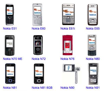 Clasificación de los móviles de Nokia