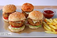 Mini hamburguesas de salmón. Receta